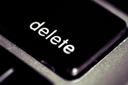 Tecla delete dominios