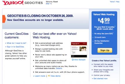 web de geocities de yahoo