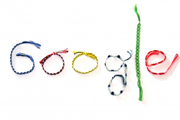 Logo de Google con cintas