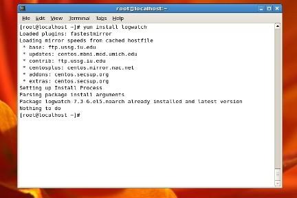 Logwatch programa linux