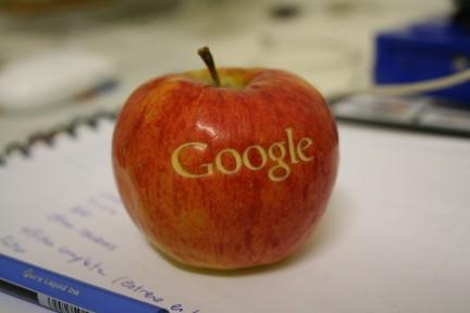 Google en una manzana