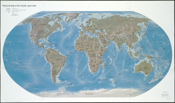 Mapamundi de dominios gTLD