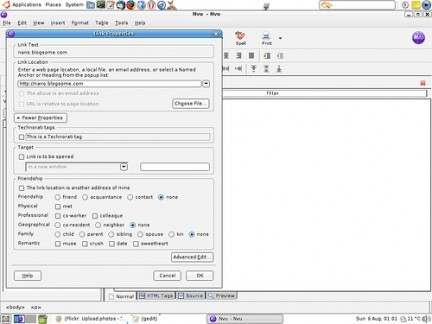 Editor HTML y CSS Nvu