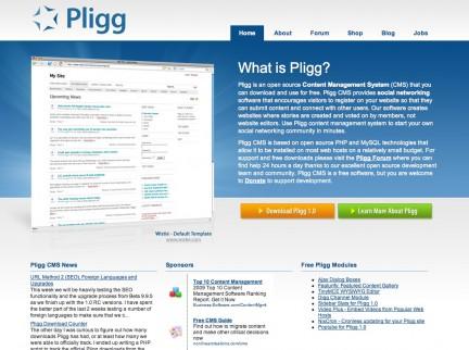Web de Pligg CMS