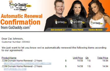 Renovacion dominios GoDaddy