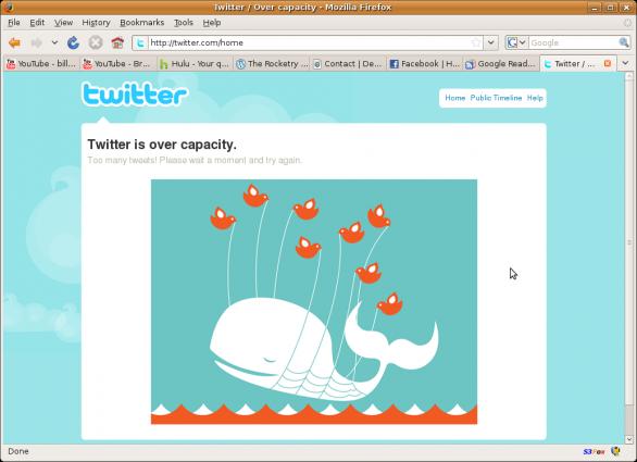 Downtime de Twitter
