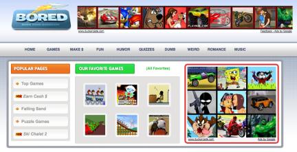 captura de la web bored.com