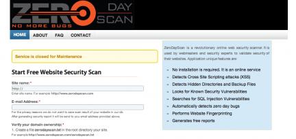 ZeroDayScan seguridad Web