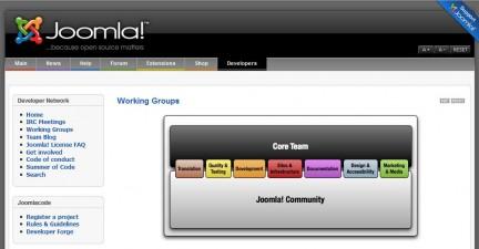 captura de la web de Joomla