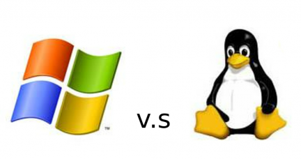 logo de windows vs linux
