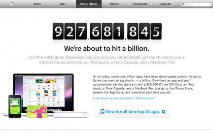 Bill�³n de descargas en el app store